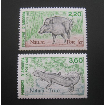 Fauna Mi 403 -404** Andora 1989 rok