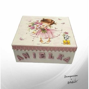 Pudełeczko na skarby dla dziewczynki