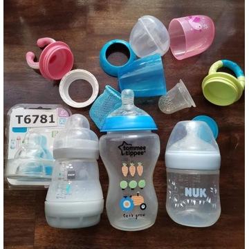 Zestaw dla malucha butelki i gryzaki