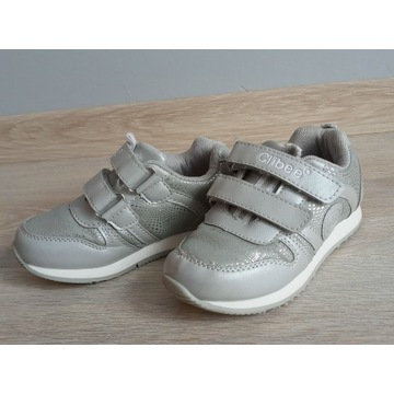 Clibee 28 buty sportowe dla dziewczynki srebrne