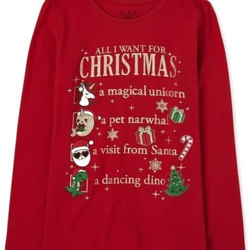 Childrens Place bluzeczka Christmas List 7-8 lat
