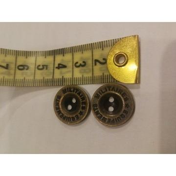 Miedziane guziki 2 dziurki 20 mm Mega zestaw 100sz