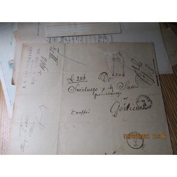 LIST pismo SĄD POWIATOWY MUSZYNA 1892 GORLICE 1893