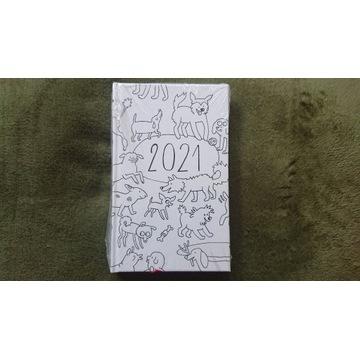 Psie Sucharki kalendarz kieszonkowy 2021