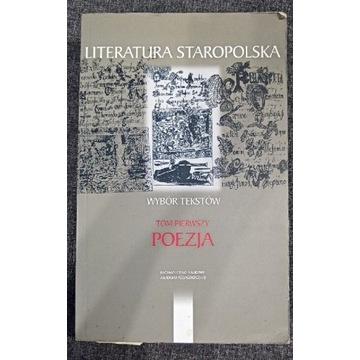 Literatura staropolska wybór tekstów, tom 1 poezja