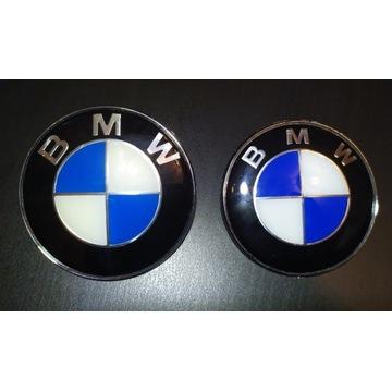 Emblemat BMW znaczek logo 82mm + 78mm komplet e39
