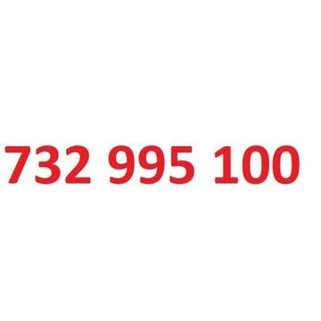 732 995 100 starter play ładny złoty numer