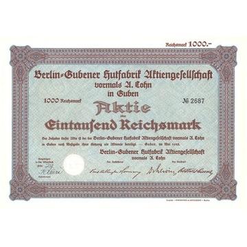 Fabryka Kapeluszy - Guben 1928 r.