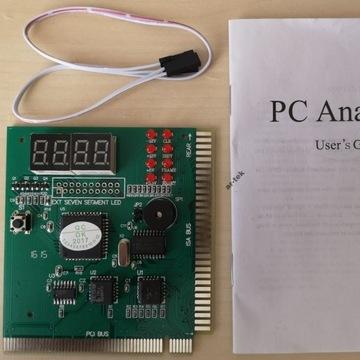 Karta diagnostyczna POST ISA PCI 4-bitowa PC Analy