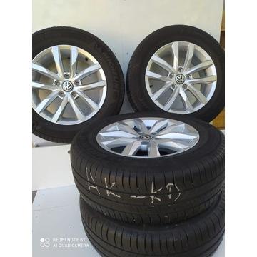 Komplet alufelg VW - oryginał 16' + opony 5,5mm