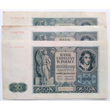 50 złotych 1941 A