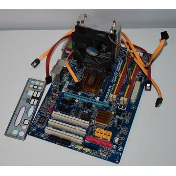 Płyta główna Gigabyte + Intel Core 2 Duo + 4GB RAM