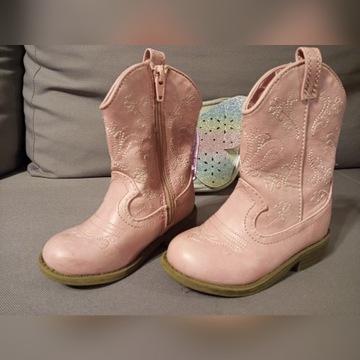 Buty cudne ladne jesien wiosna kowbojki roz 23