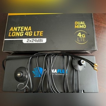 Antena 4G LTE LONG 2x24dBi 5m  RG174 Signaflex