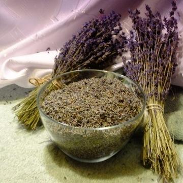 Lawendowy susz - tylko kwiaty 1 kilogram 45 zł.