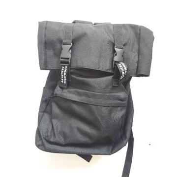 plecak duży sportowy torba czarny sinsay techwear