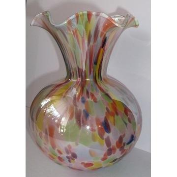 Piękny wazon w stylu Murano-szkło artystyczne