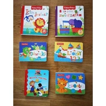 Książeczki Fisher Price dla najmłodszych - 6 sztuk