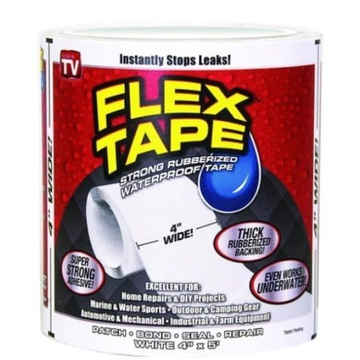 Taśma klejąca wodoodporna - Flex Tape biała