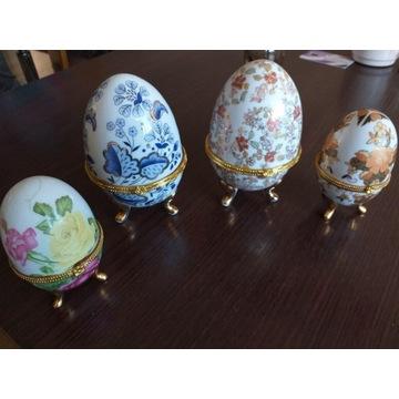 Jaja z porcelany Prl