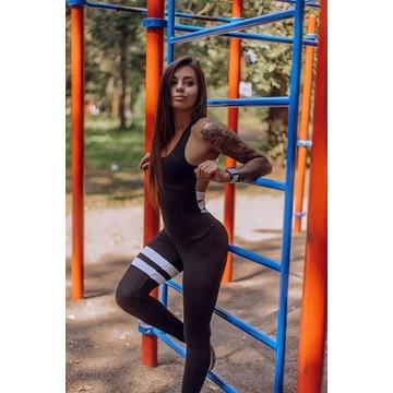 Strój sportowy damski dres komplet na siłownie