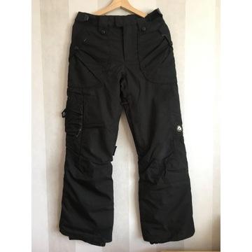 Czarne spodnie snowboardowe narciarskie