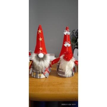 Skrzat świąteczny , mikołaj rękodzieło