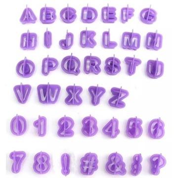 Foremki alfabet literki wykrywacze do lukru ciasta