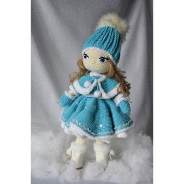 śliczna szydełkowa lala,idealna na prezent