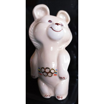 Procelanowy Miś Misza Olimpiada w Moskwie 1980