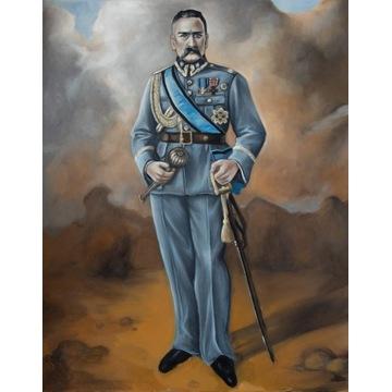Obraz  olejny Piłsudski  DUŻY 80x100