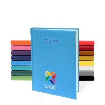 Terminarz dzienny A5 2022 z kolorowym nadrukiem