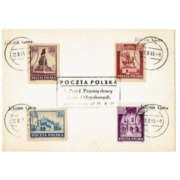 Jelenia Góra Karta poczt. z 1945 r.