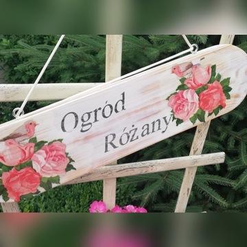 Tabliczka ogrodowa  Róże