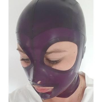 Latex 100% guma Maska fiolet