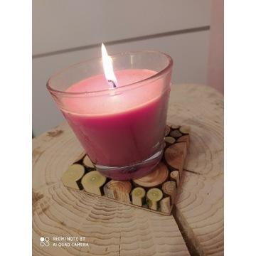 2 x Podkładka pod świecę lub kubek plastry drewna