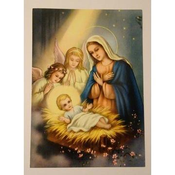 Kartka pocztówka Boże Narodzenie obieg lata 90-te