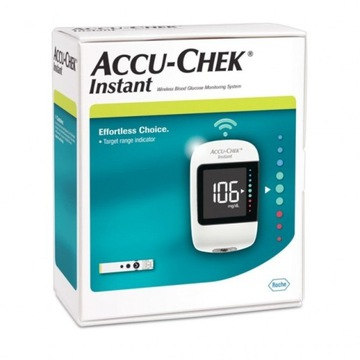 Glukometr Accu-Chek Instant + nakłuwacz + testy