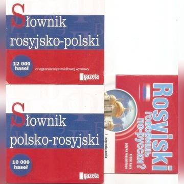 słownik rosyjsko-polski i polsko-rosyjski 3CD