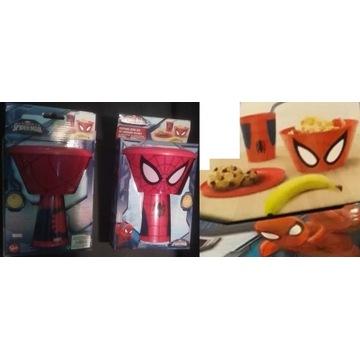 Spider-man zestaw śniadaniowy miska kubek talerz !