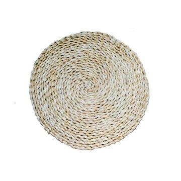Podkładki z trawy hiacynt słoma rustykalne wynajem
