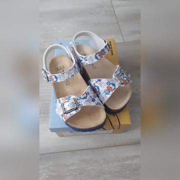 Piękne sandałki skórzana ergonomiczna wkładka r 26