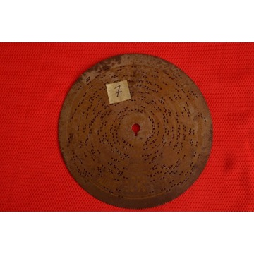 Płyta do polifonu 14,5cm Nr.7