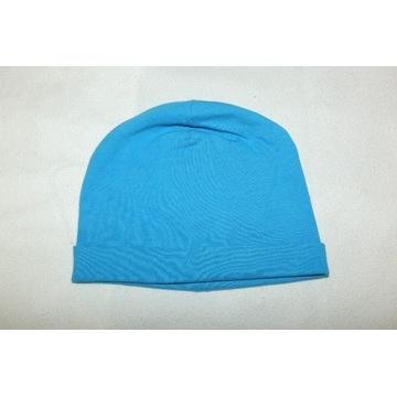 Czapka cienka wiosenna niebieska 42 44 cm 68 / 74
