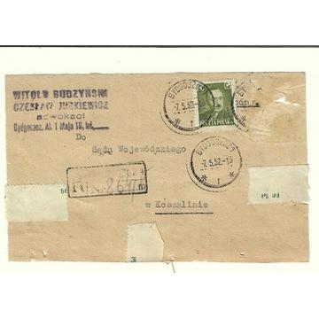 Koperta(pismo) z 1952r ze znaczkiem nr 535