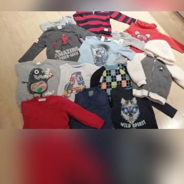 Duży zestaw ubrań dla chłopca 86-92