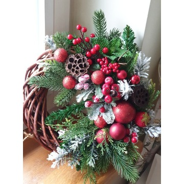 Wianek bożonarodzeniowy,  świąteczny ok 45cm