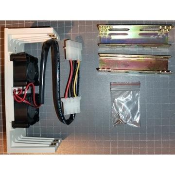 Szyny HDD z panelem 3,5 5,25