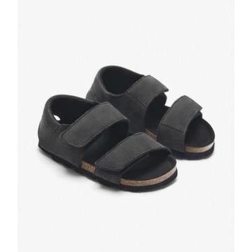 Sandały skórzane ZARA czarne, nowe 23