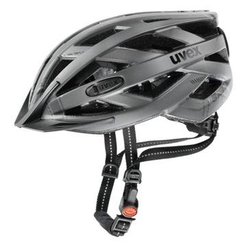 Uvex City I-VO kask rowerowy 52-57 Dark SIlver Mat